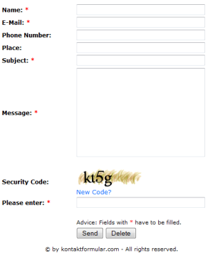 Contact Form Homepage | PHP Contact Form Script - Download