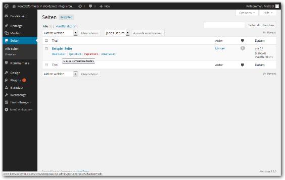 Kontaktformular Wordpress Schritt 2