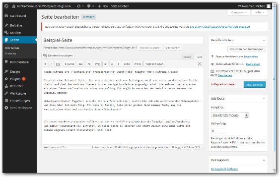Kontaktformular Wordpress Schritt 4