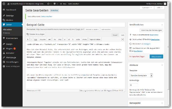 Kontaktformular Wordpress Schritt 5